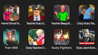 Horror School Teacher,Teacher Scary,Teacher Sleepy Baldi,Crazy Scary Teacher,Train 666,Scary Fighter