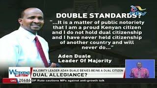 Majority leader Aden Duale denies being a dual citizen