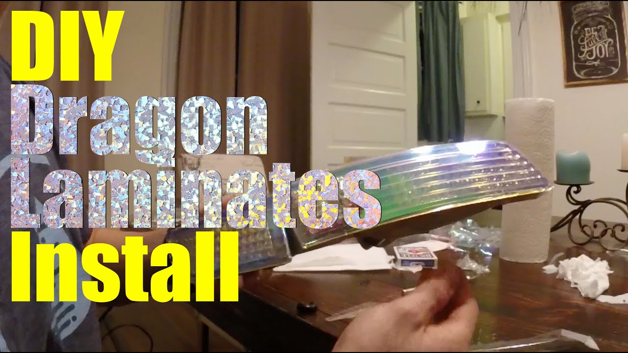 Diy Car Projects Neo Chrome Headlight Tint Dragon Laminates Install