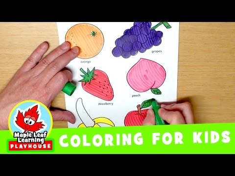 Thumbnail: Fruit Coloring Page for Kids | Maple Leaf Learning Playhouse