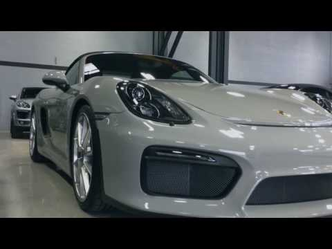 Porsche Boxster Spyder in paint to sample Fashion Grey