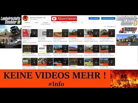Info | KEINE VIDEOS MEHR ! | Www.German-Gamers.de