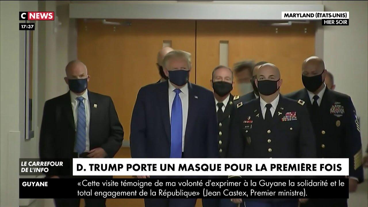 Donald Trump porte un masque pour la première fois
