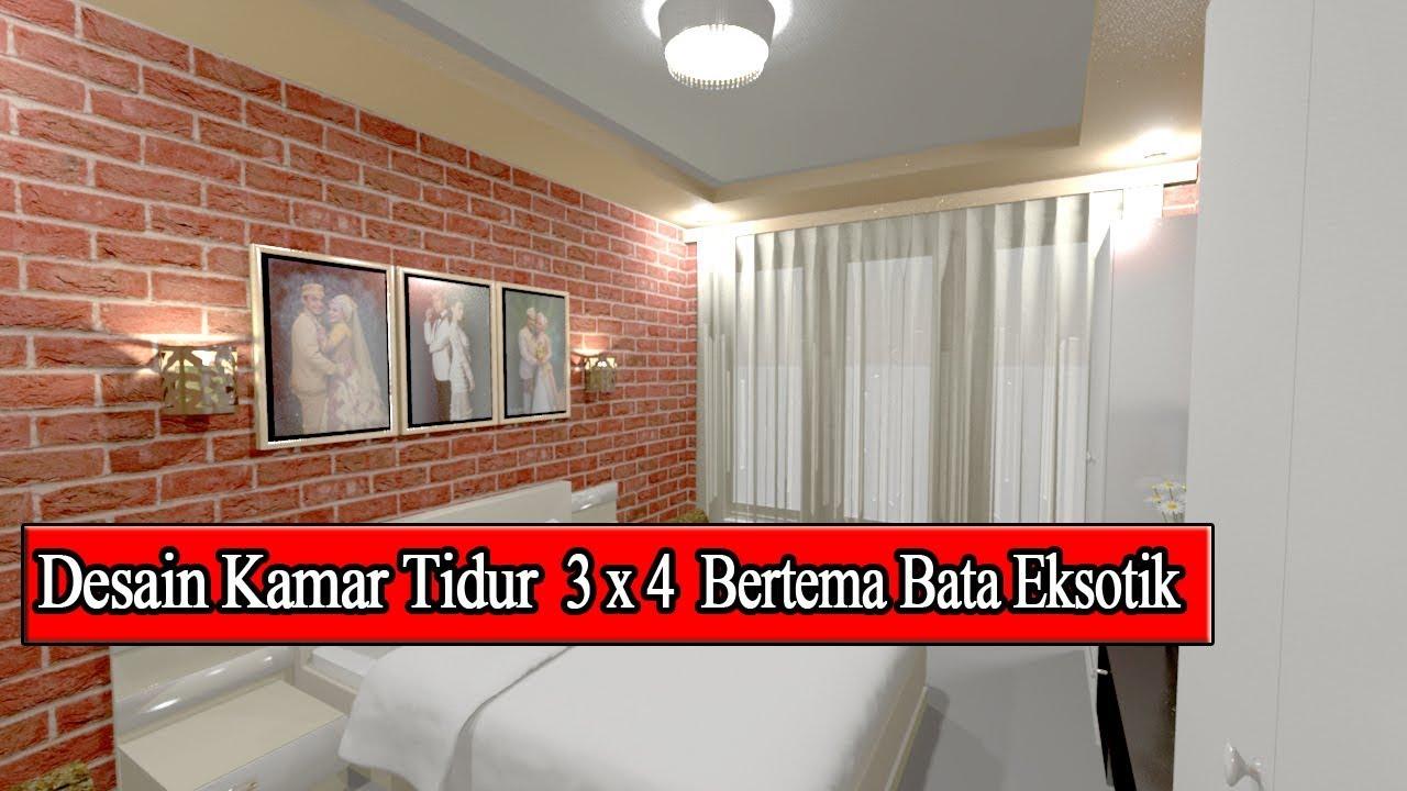 Desain Kamar Tidur 3x4 Suami Istri Terbaru 2019 Youtube
