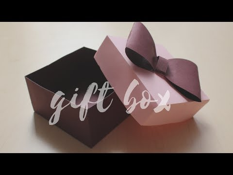 DIY: How to make a Gift Box | Easy Box for Gift | Easy craft for Father's Day