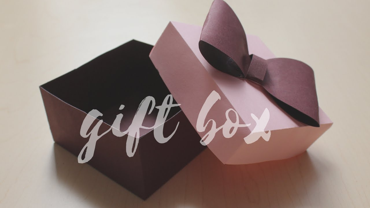 DIY: How to make a Gift Box | Easy Box for Gift | Easy craft for  Diwali | Handmade Gift Idea
