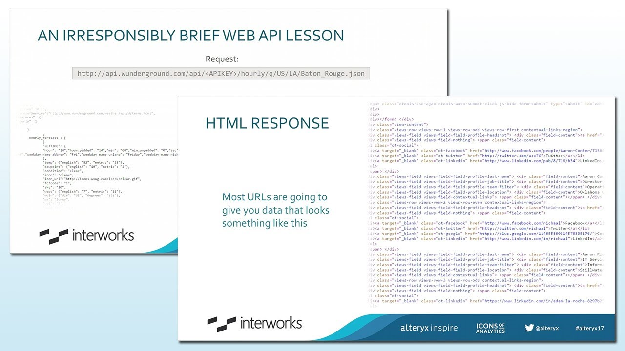 Interworks - Scraping Web Data with Alteryx - Inspire 2017