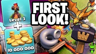 buying the third inferno and tornado trap first look at the update clash of clans