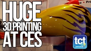 Huge 3D Printing With 3DP Unlimited At CES 2015