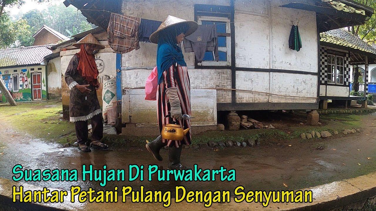 Suasana Hujan Dan Tradisi Unik ll Hujan Duit ll Di Kampung Tajur Purwakarta