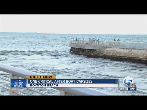 One critical after boat capsizes off Boynton Inlet