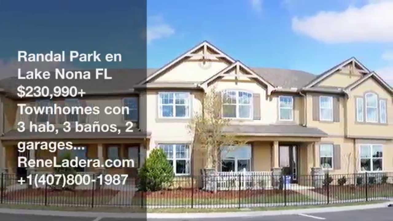 Randal Park Lake Nona 230k Townhomes Nuevos En Orlando