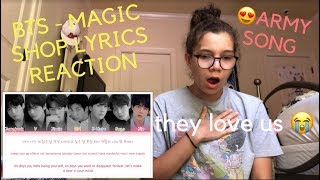 Video BTS - MAGIC SHOP LYRICS REACTION [SO FREAKIN CUTE] download MP3, 3GP, MP4, WEBM, AVI, FLV Juli 2018