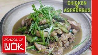 Super Simple Chinese Chicken & Asparagus Stir Fry Recipe! | Wok Wednesdays