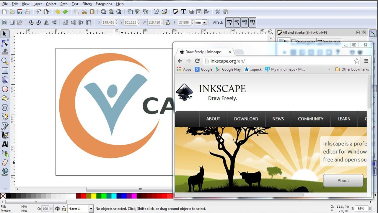 Creating a logo in Inkscape in 15 minutes - YouTube