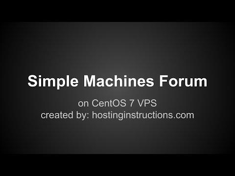 Install Simple Machines Forum on CentOS 7