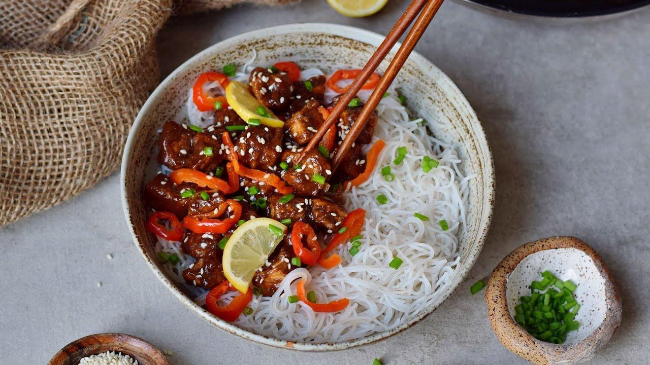 Sticky Teriyaki Tofu With Sweet And Sour Sauce (Vegan Recipe)