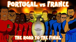 Portugal vs France: THE ROAD TO THE FINAL (Euro 2016 preview montage)
