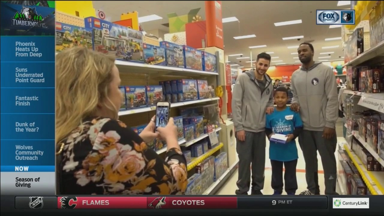 Wolves take local kids on holiday shopping spree