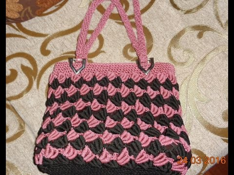 How To Crochet Handbag Pattern Youtube