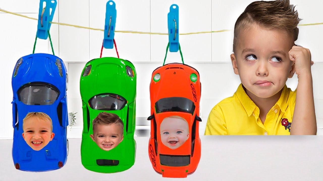 Download Vlad y Niki pintan coches de juguete y se divierten en el museo del coche