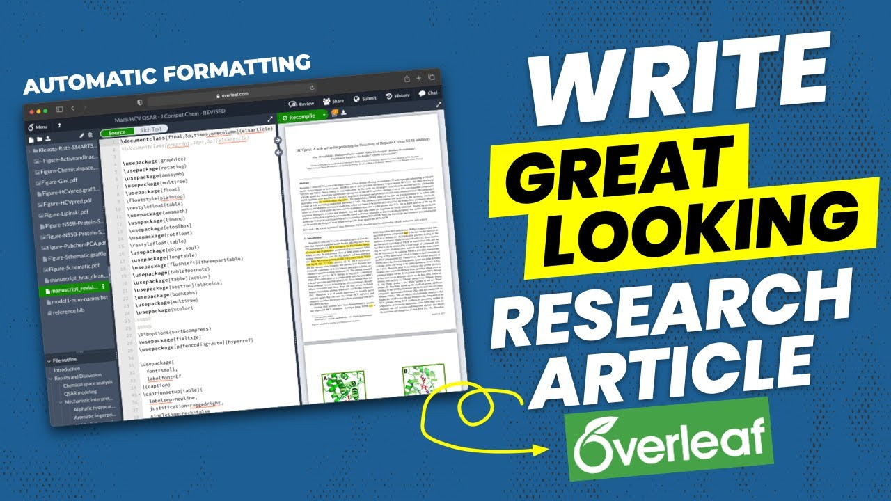 How to Write A Great Looking Research Article using LaTeX on Overleaf