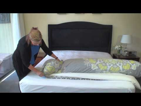 The effortless way to put on a quilt cover
