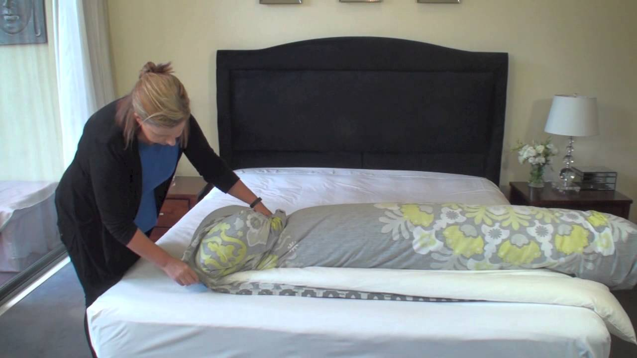 The Effortless Way To Put On A Quilt Cover Youtube