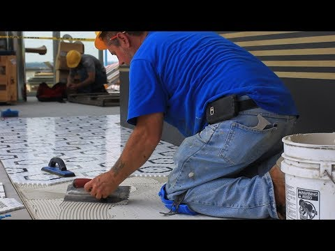Custom Tiling at Juniper - Roof Top Patio and Event Space