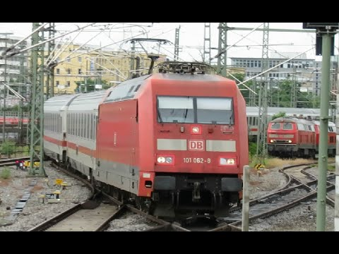 Germany: DB Railways Class 101 062 arriving at Stuttgart Hauptbahnhof