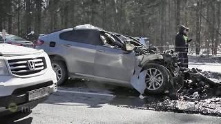Лейтенант ГИБДД погиб в ДТП на Минском шоссе за рулём BMW X6