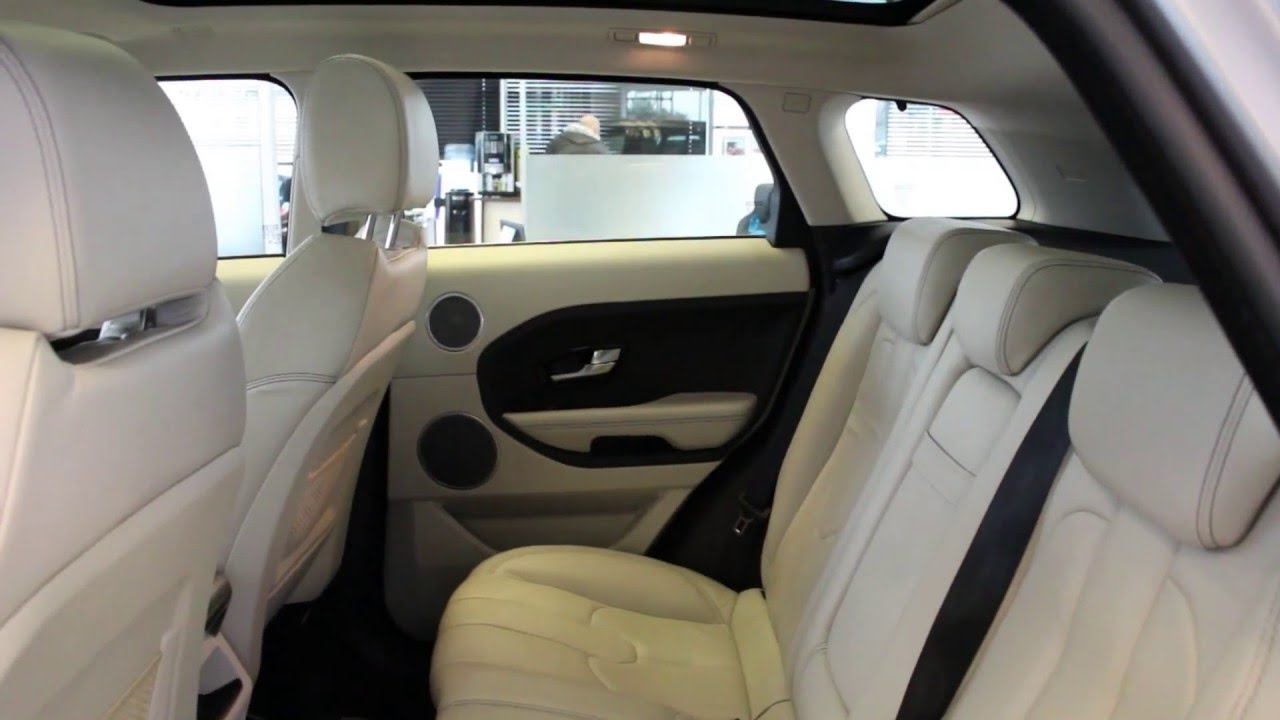 2013 range rover evoque grey ivory leather youtube - Range rover with red leather interior ...