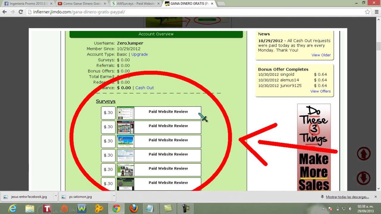 Como Ganar Dinero En Internet Peru 2013 12 Al Dia Garantizado Youtube