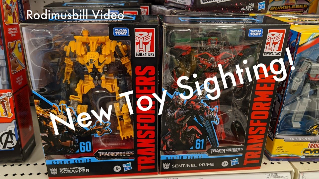 Studio Series Scrapper, Sentinel Prime New Toy Sightings By Rodimusbill
