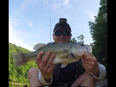 Catching Bass All Day On Crankbaits And Spinnerbaits At Cave Run Lake--ON MY NEW HOBIE YAK!