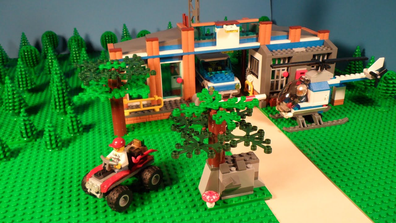 Free House Layout Lego 4440 Review Forest Police Station City Youtube