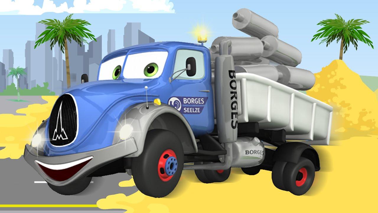 animierter zeichentrick  der neugierige lastwagen