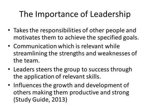 LEADERSHIP| ESSAY