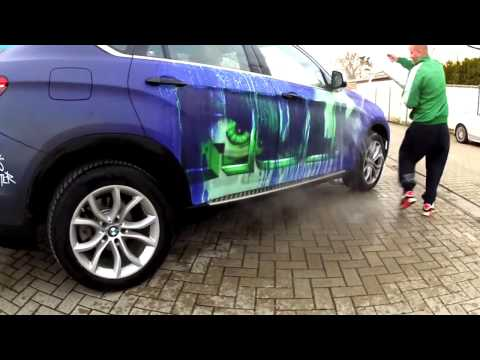 Car Turns into the Hulk When Splashed with Water