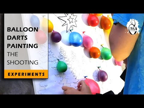 Balloon-Darts Painting Active Experiment - Fun For The Whole Family!
