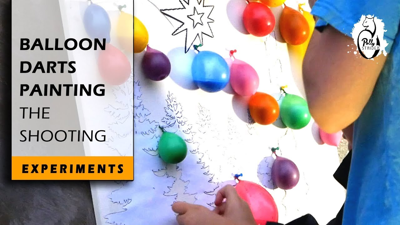 How To Make A Balloon Darts Painting Experiment Technique Review 1 Youtube