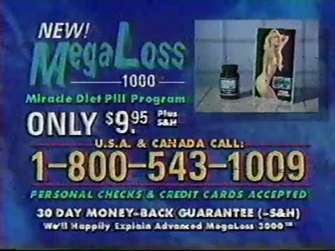 Mega Loss 1000 Diet Pill 1991