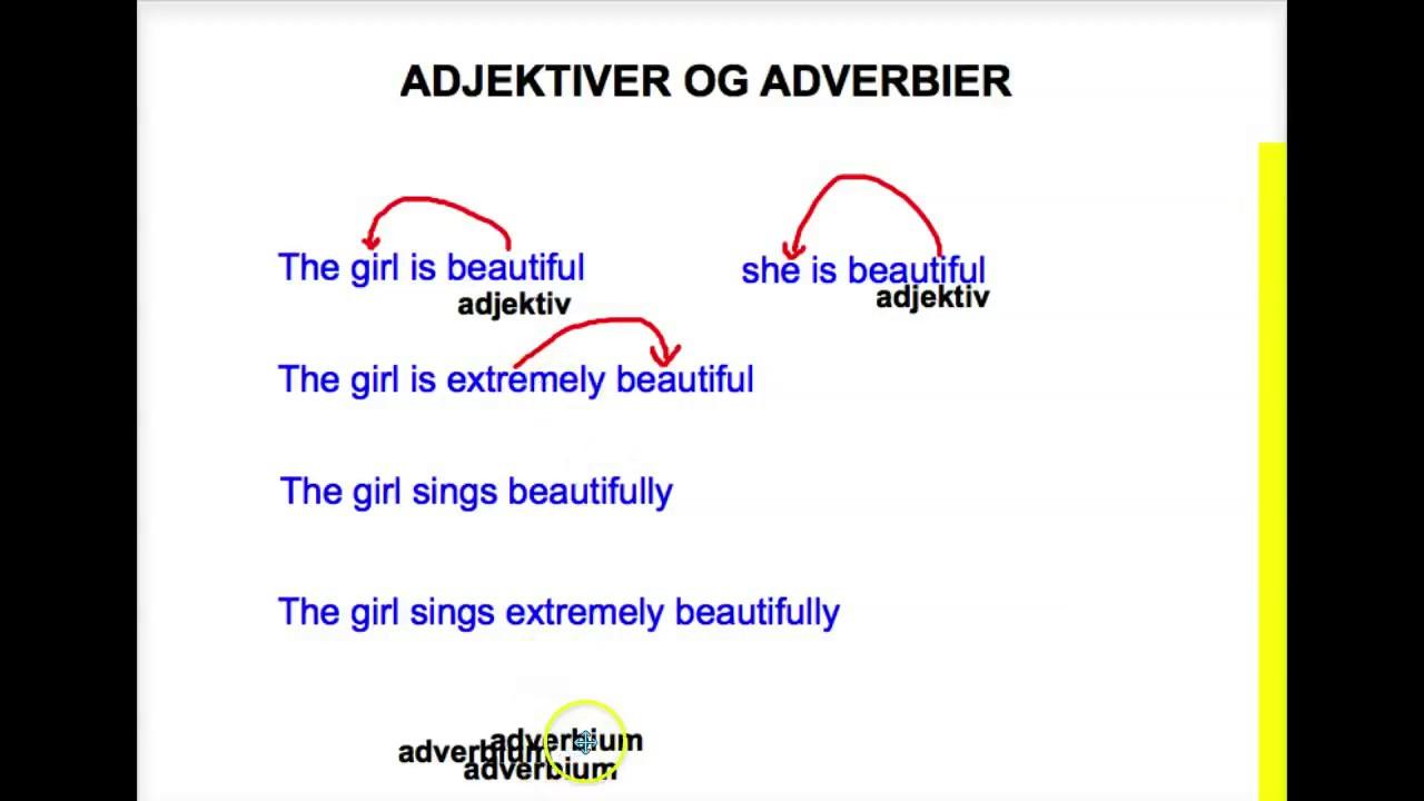 Forskellen på adjektiver og adverbier