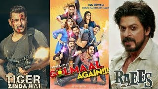 Tiger Zinda Hai Vs Golmaal Again Vs Raees Weekend Collection Comparison, Salman, SRK, Ajay, Video
