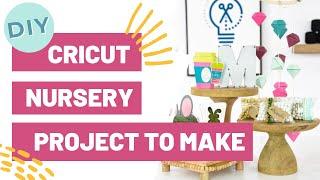 DIY Cricut Nursery Project You HAVE To Make! - Hanging Gem Mobile