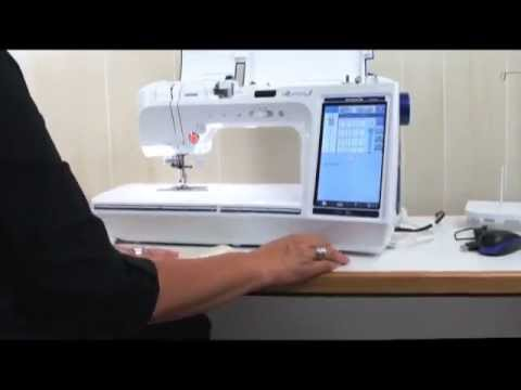 Quattro 40 Edge Sewing And Needle Position YouTube Inspiration Brother Quattro 6000d Sewing Embroidery And Quilting Machine