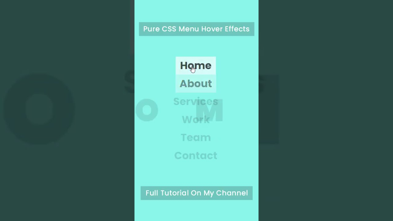 Pure CSS Creative Menu Hover Effects