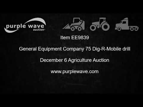 General Equipment Company 75 Dig-R-Mobile drill for sale | no-reserve auction December 6, 2017