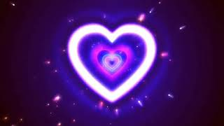 Neon Lights Love Heart Tunnel Tiktok Viral Trend. Use It For Your Video