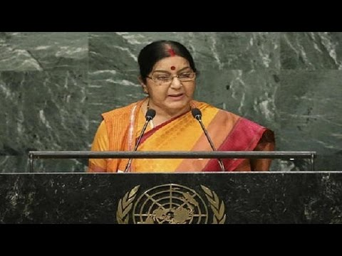 Sponsoring terrorism has never let any country enjoy peace: Swaraj
